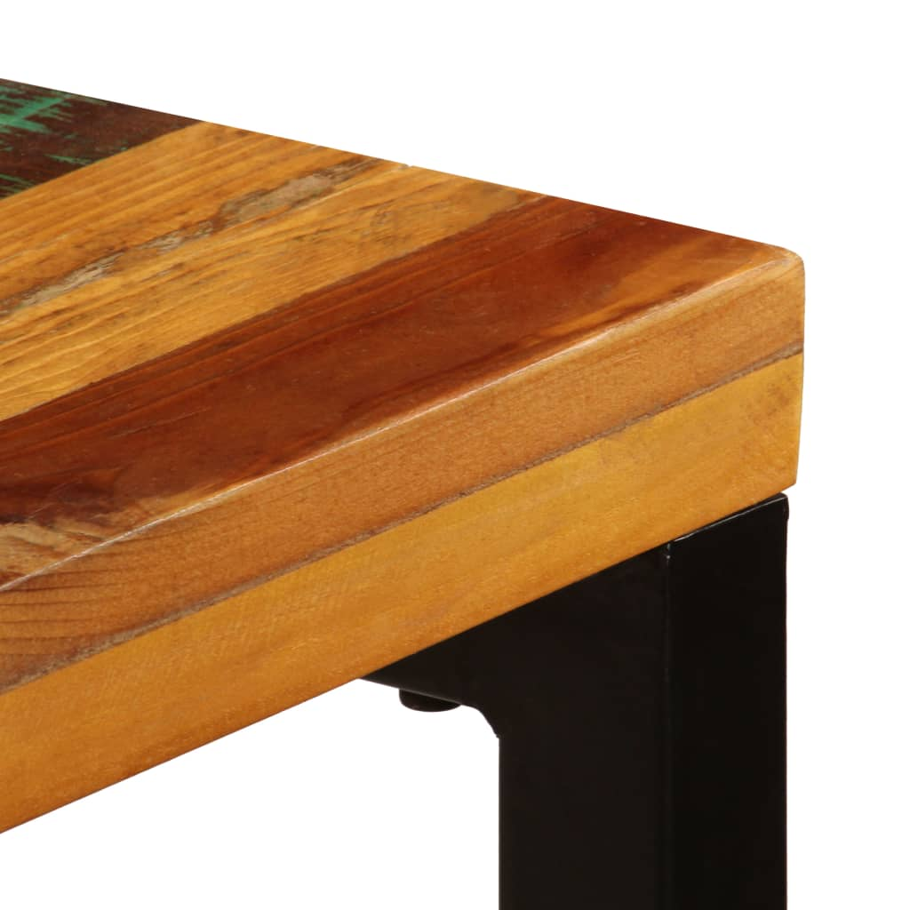 Dining Table 115x55x76 cm Solid Reclaimed Wood and Steel 7
