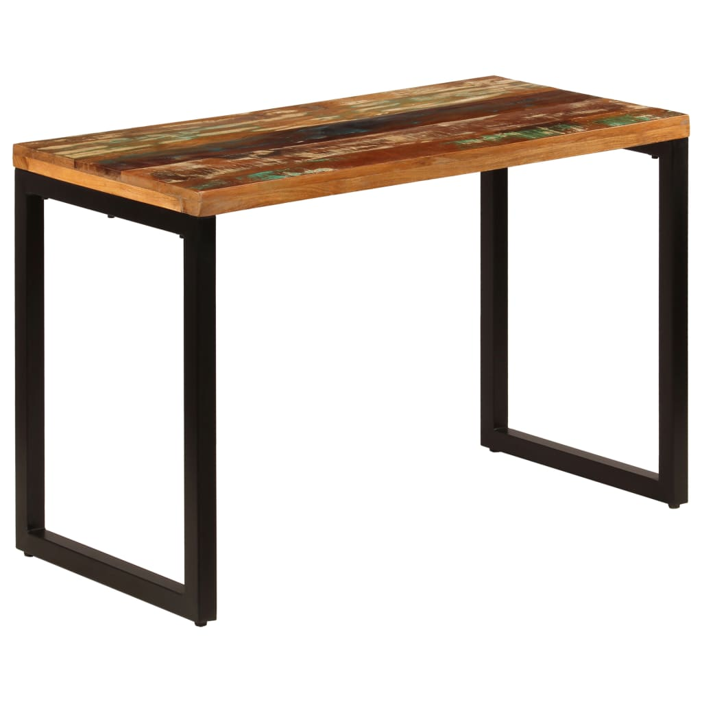 Dining Table 115x55x76 cm Solid Reclaimed Wood and Steel 10
