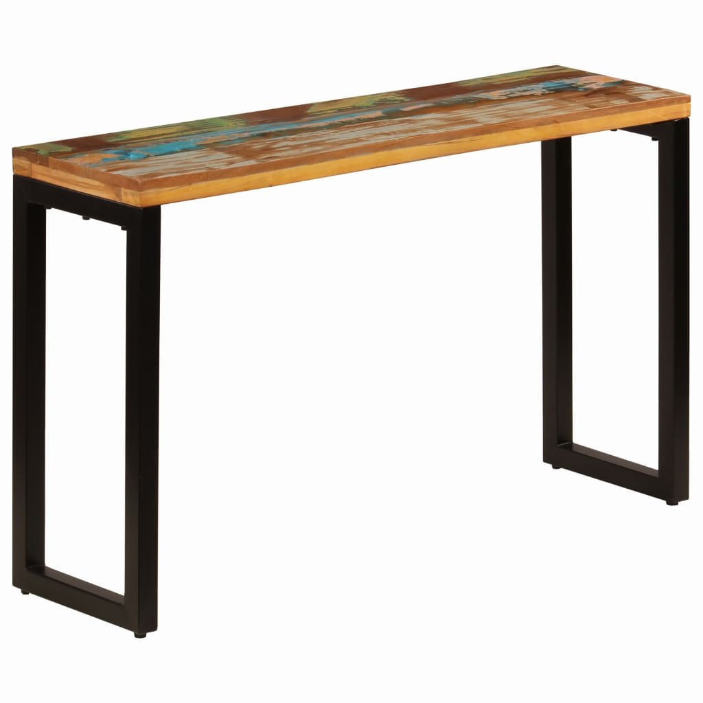 Console Table 120x35x76 cm Solid Reclaimed Wood and Steel 1