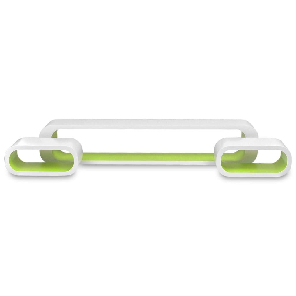 Wall Cube Shelves 6 pcs Green and White 5
