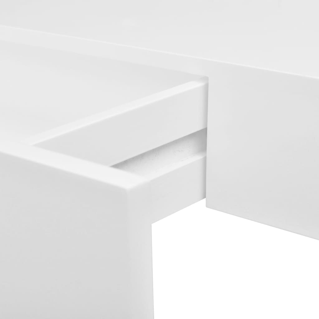 Floating Wall Shelves with Drawers 2 pcs White 48 cm 5