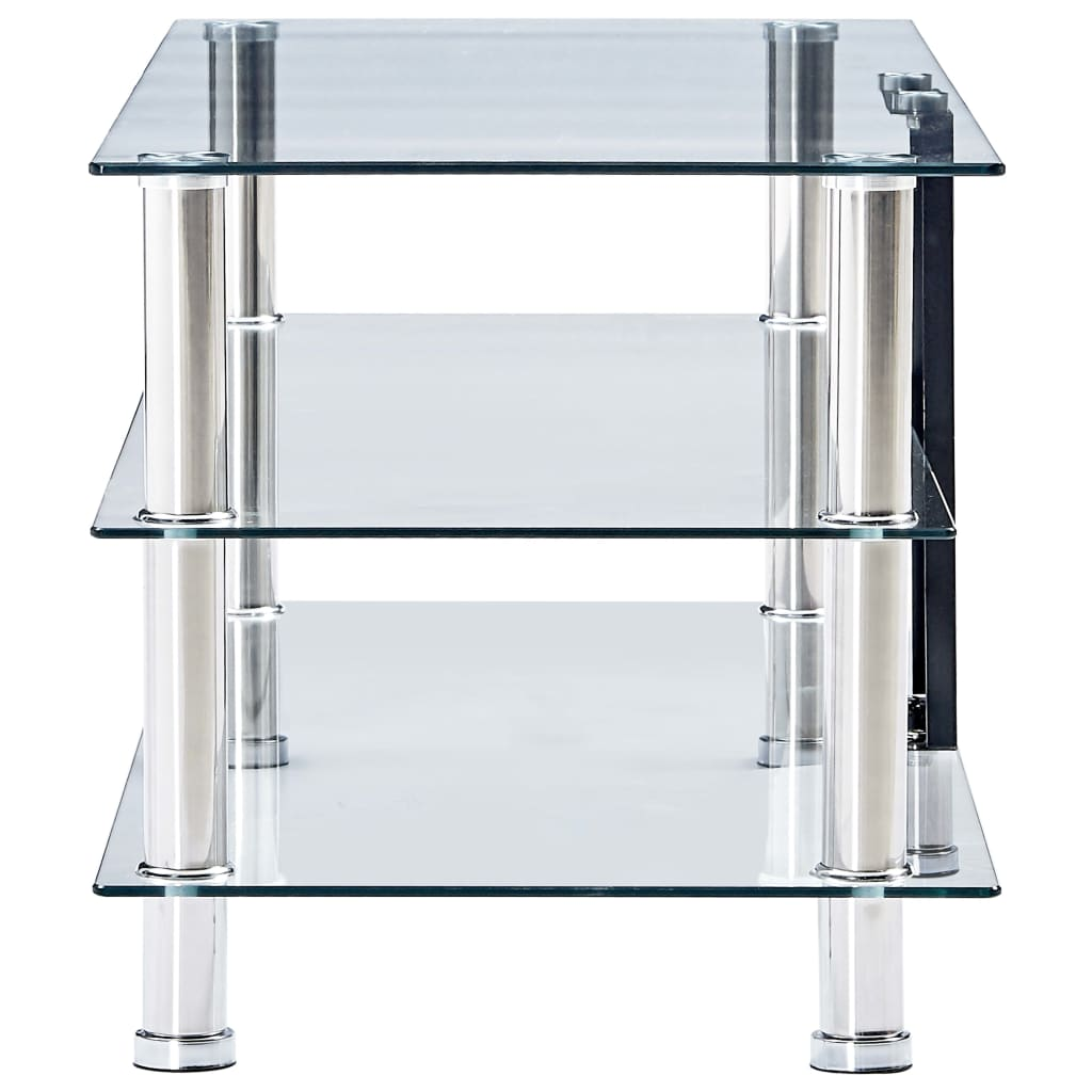 TV Stand Transparent 150x40x40 cm Tempered Glass 3