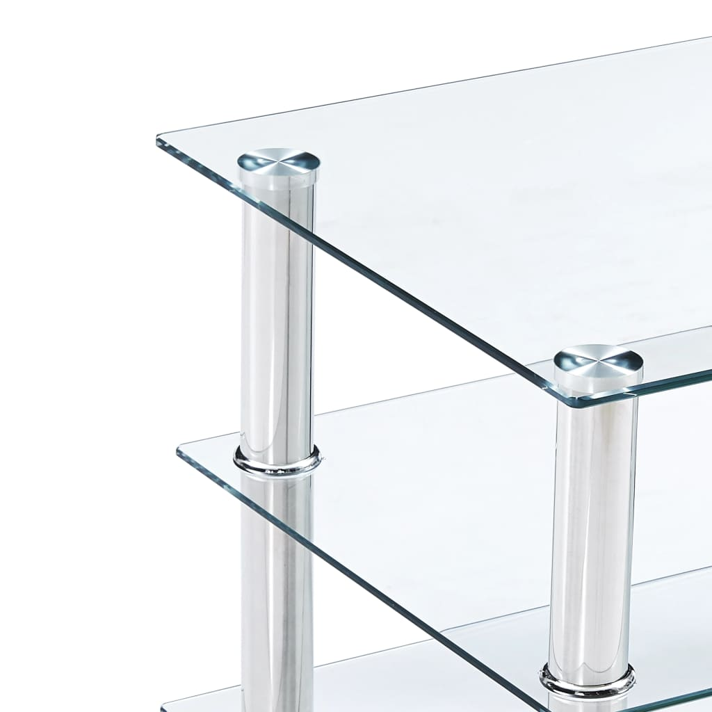 TV Stand Transparent 150x40x40 cm Tempered Glass 5