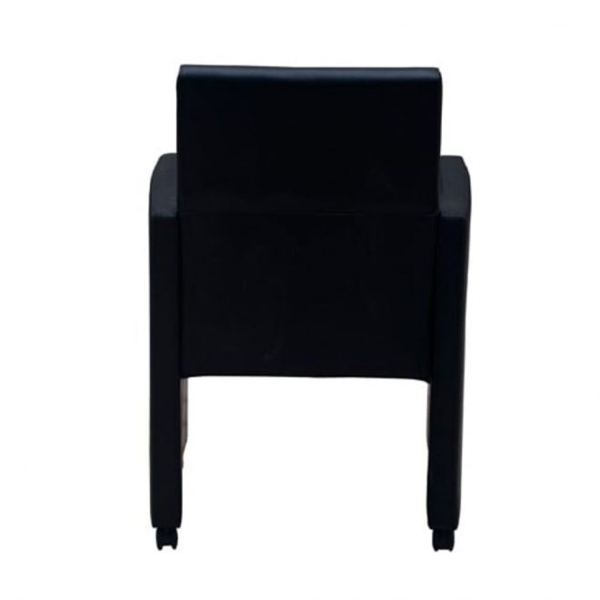 Dining Chairs 2 pcs Black Faux Leather 6