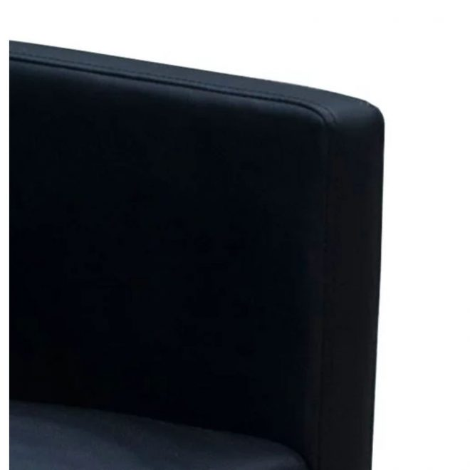 Dining Chairs 2 pcs Black Faux Leather 8