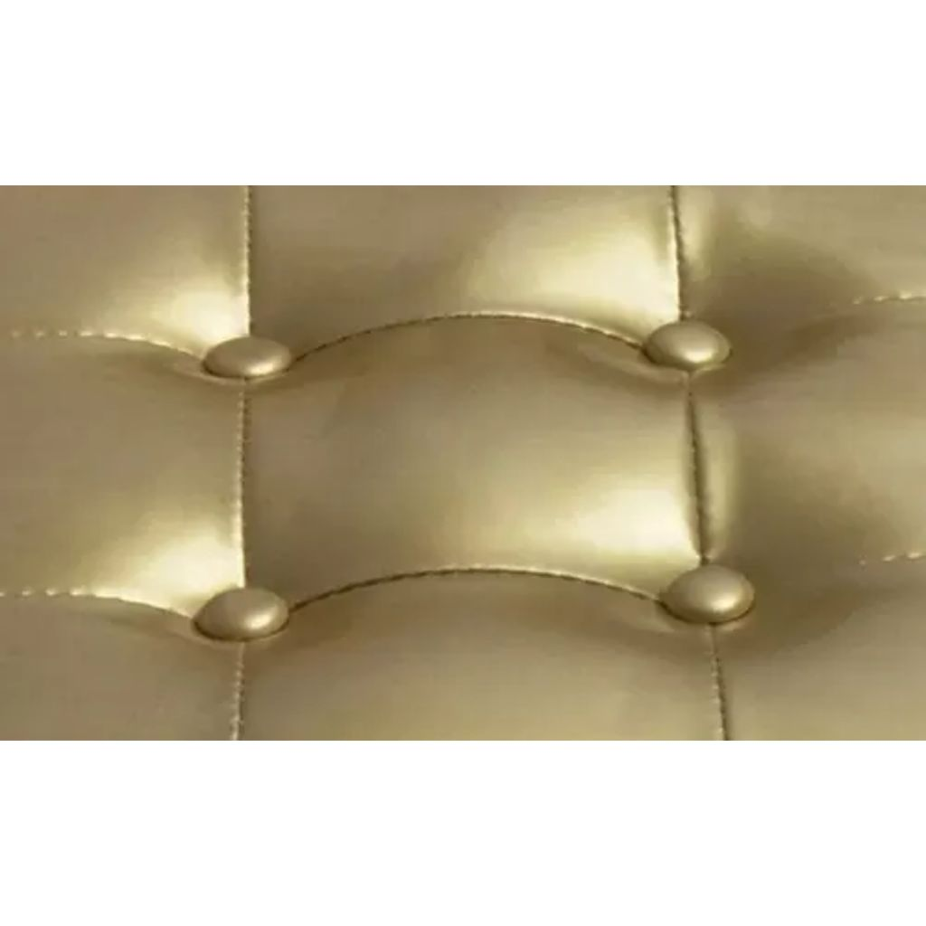 Tub Chair with Footstool Gold Faux Leather 4