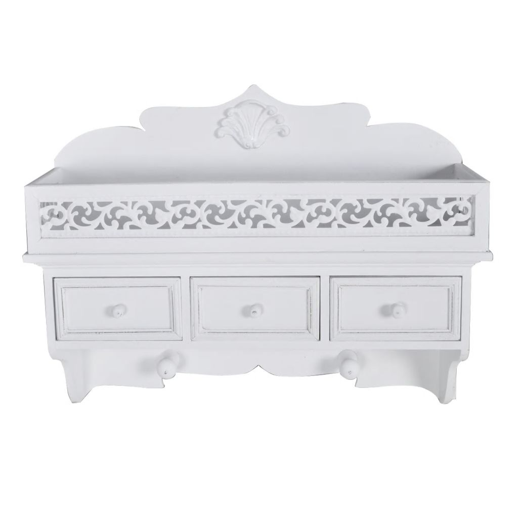 Wall Mounted Shelf with 3 Drawers 2