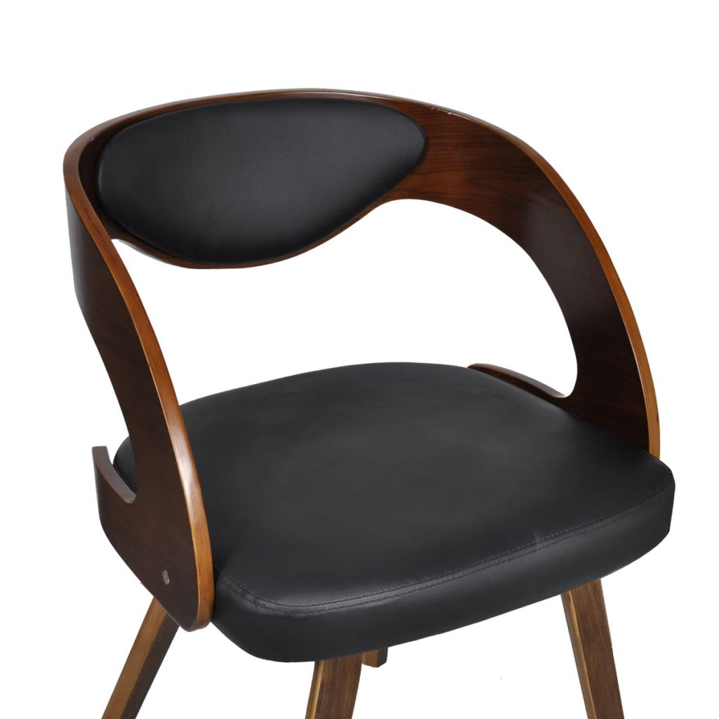 Dining Chairs 4 pcs Brown Bent Wood and Faux Leather 6