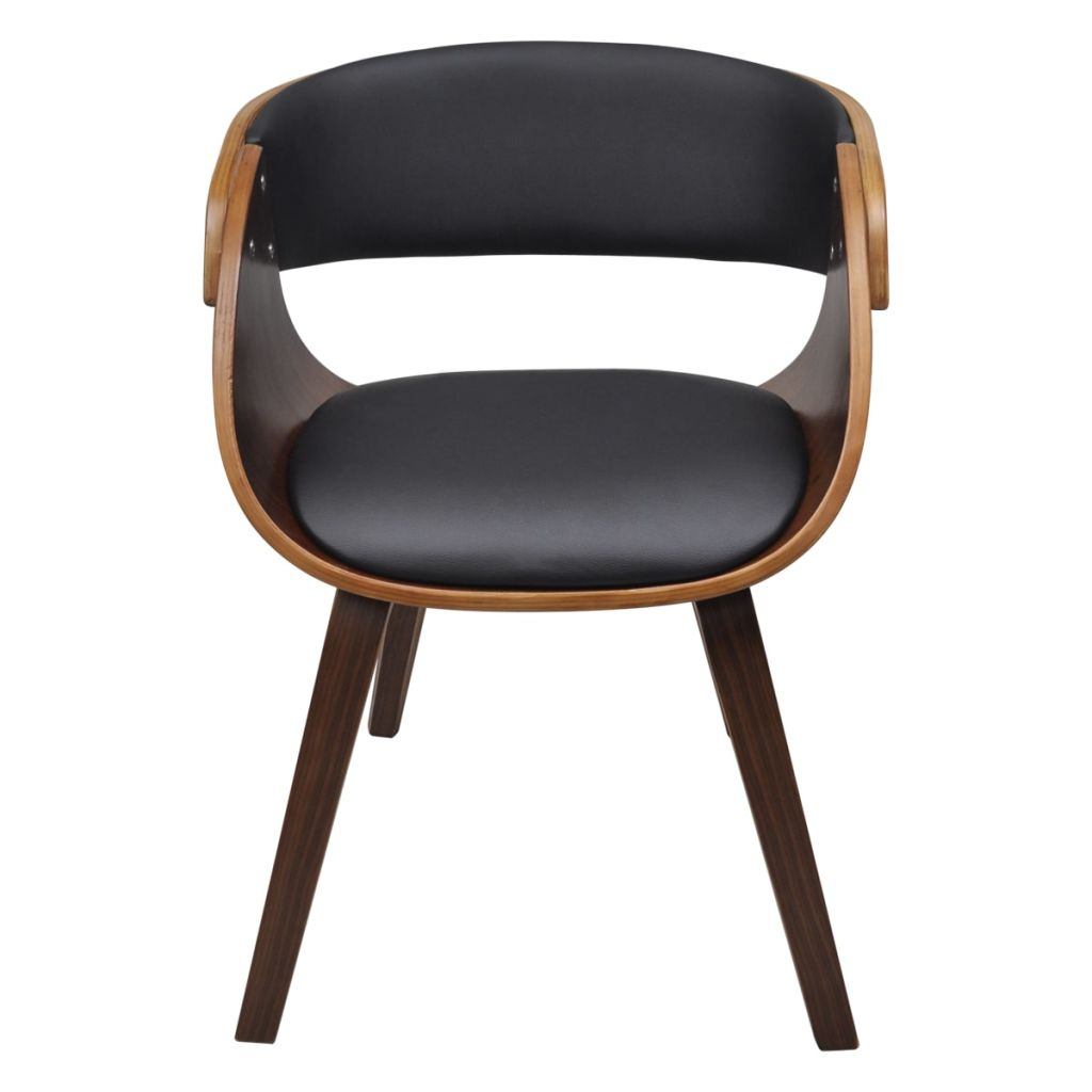 Dining Chairs 2 pcs Brown Bent Wood and Faux Leather 3