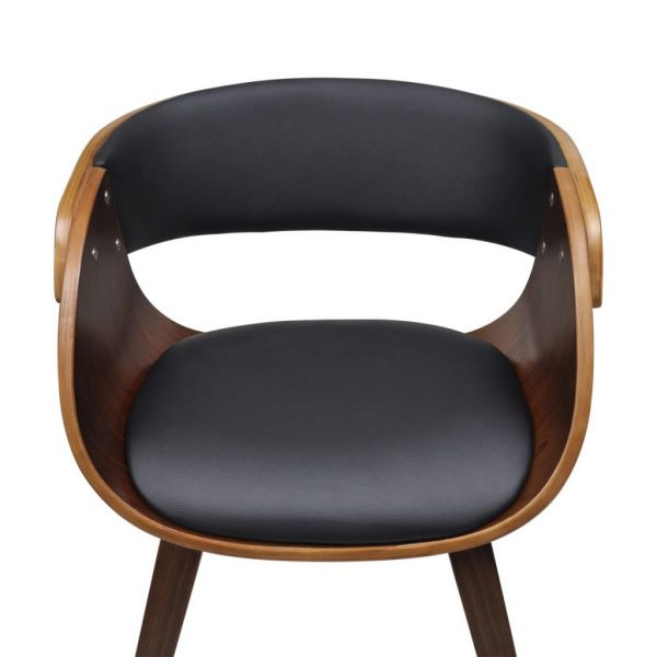 Dining Chairs 2 pcs Brown Bent Wood and Faux Leather 4