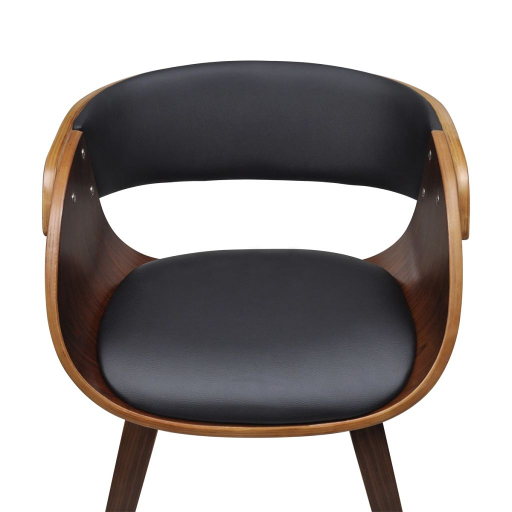 Dining Chairs 6 pcs Brown Faux Leather 4