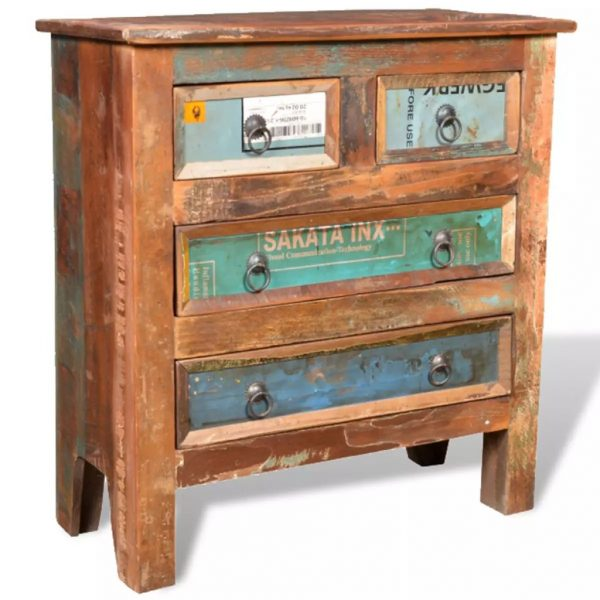 Reclaimed Cabinet Solid Wood with 4 Drawers 11