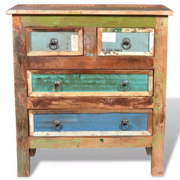 Reclaimed Cabinet Solid Wood with 4 Drawers 4