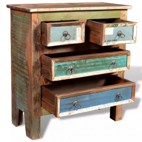 Reclaimed Cabinet Solid Wood with 4 Drawers 6