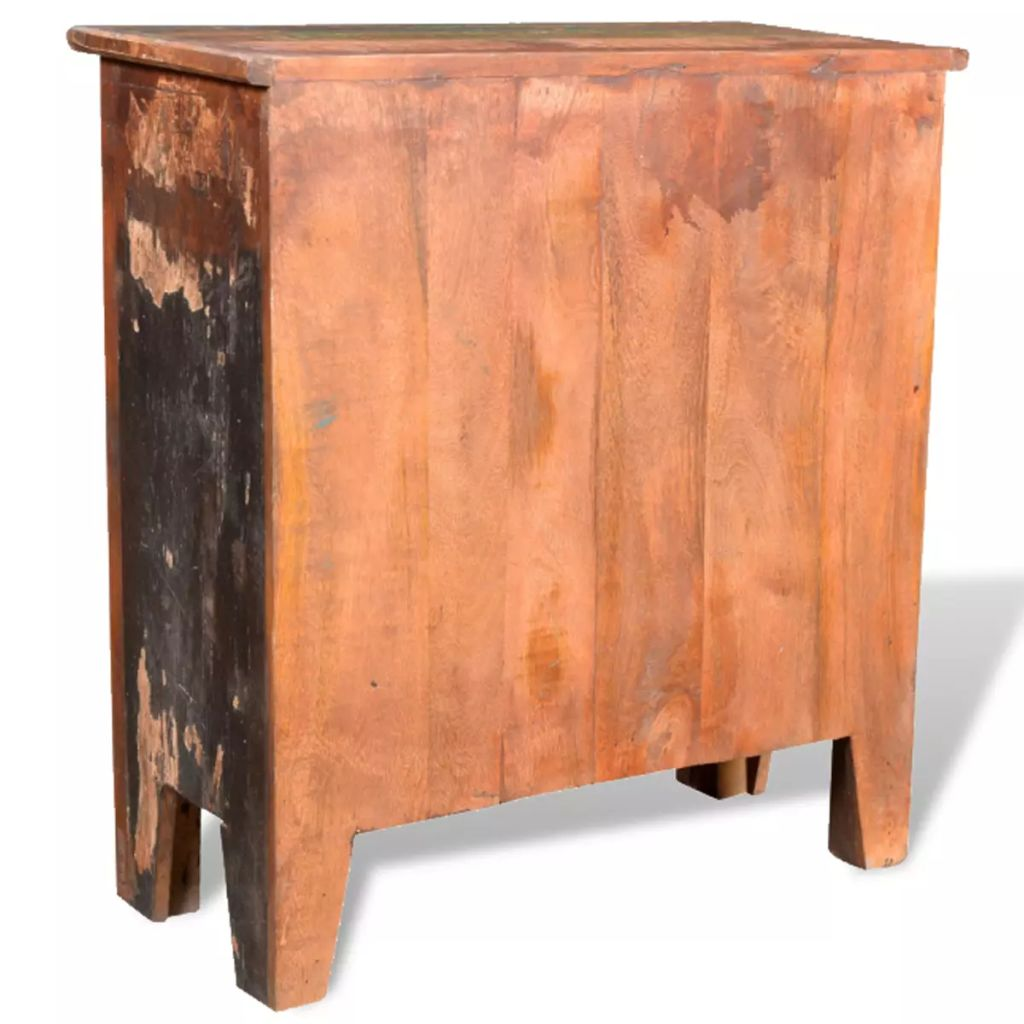 Reclaimed Cabinet Solid Wood with 4 Drawers 8