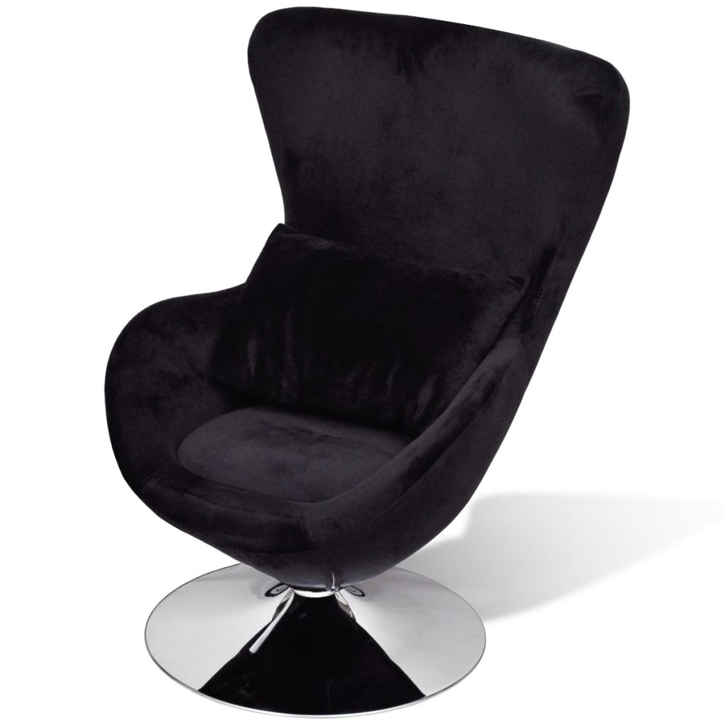 Armchair with Egg Shape Black 1