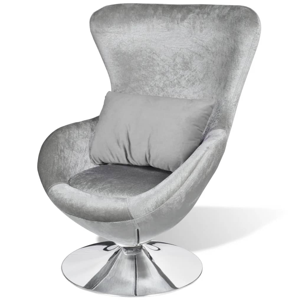 Armchair with Egg Shape Silver 1
