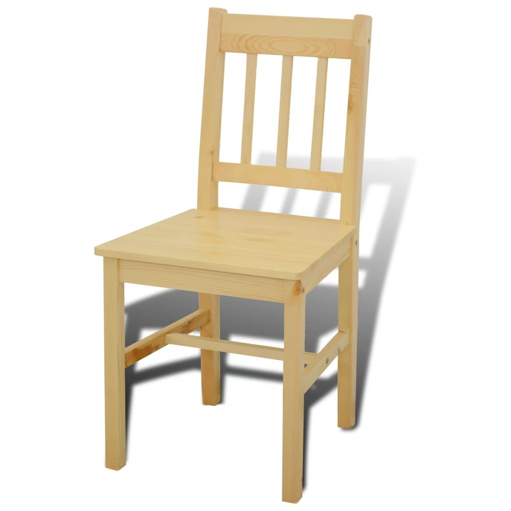 Wooden Dining Table with 4 Chairs Natural 5