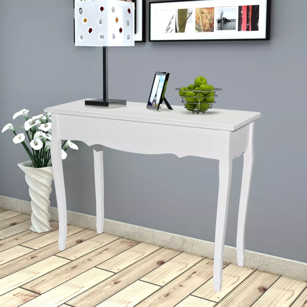 Dressing Console Table White 1
