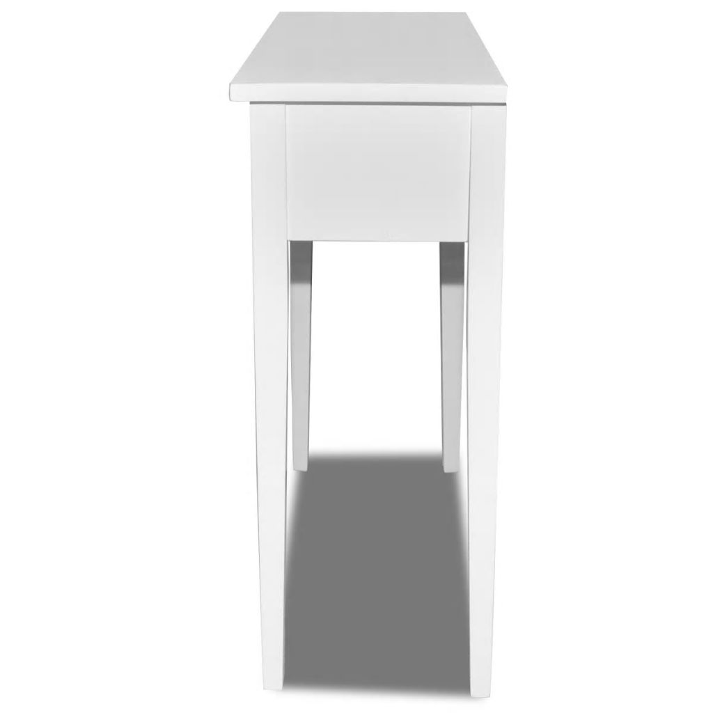 Dressing Console Table with Two Drawers White 4