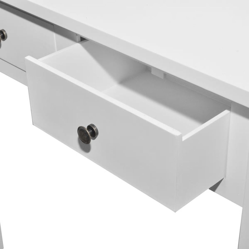 Dressing Console Table with Two Drawers White 5