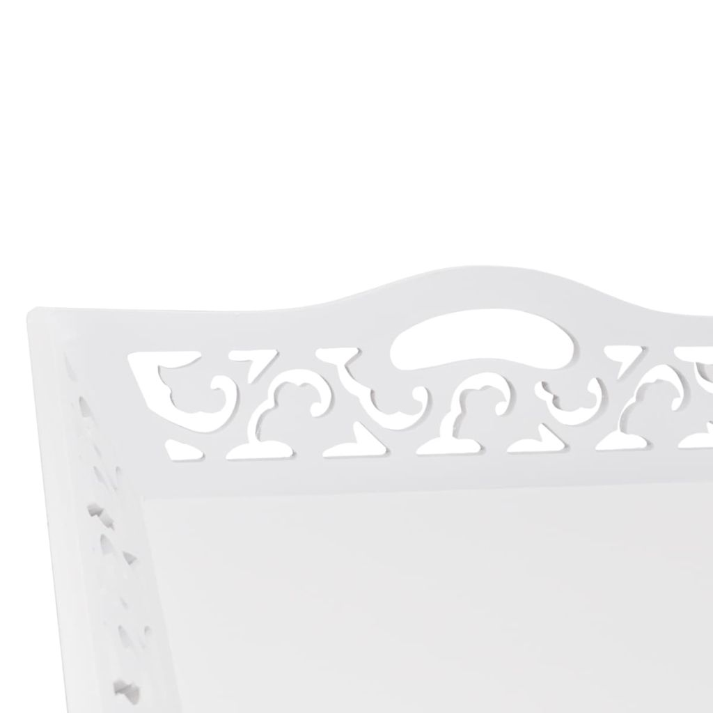 Side Table with Tray White 4