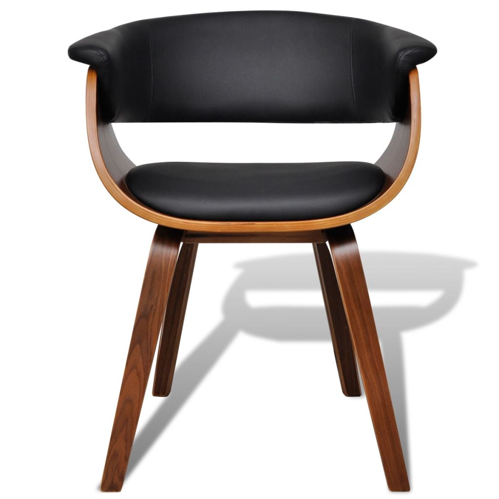 Dining Chairs 4 pcs Bent Wood and Faux Leather 3