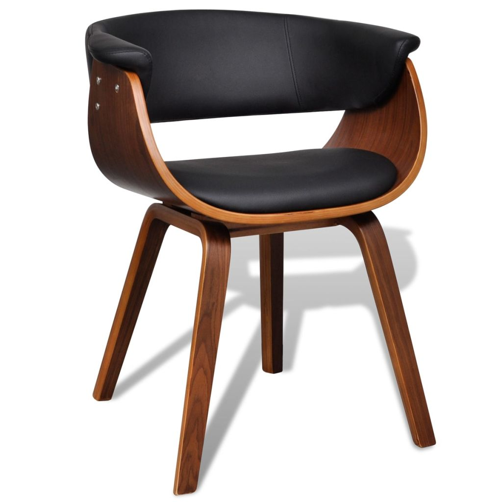 Dining Chairs 4 pcs Bent Wood and Faux Leather 4