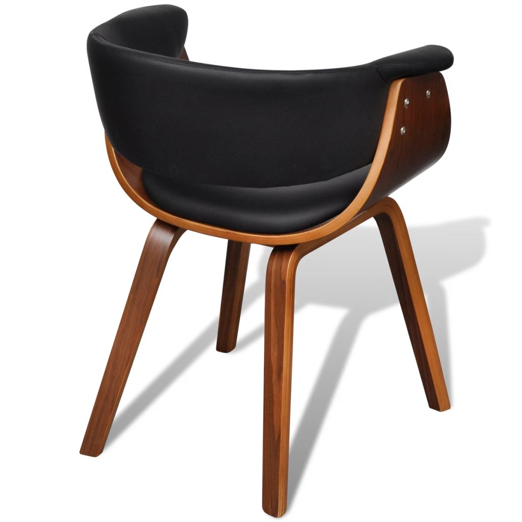 Dining Chairs 4 pcs Bent Wood and Faux Leather 7