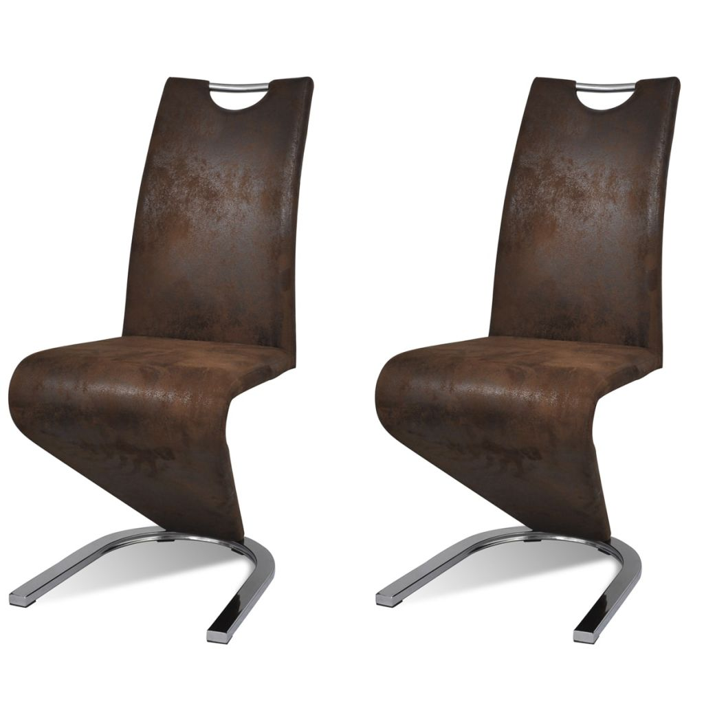 Dining Chairs 2 pcs Brown Faux Leather 2