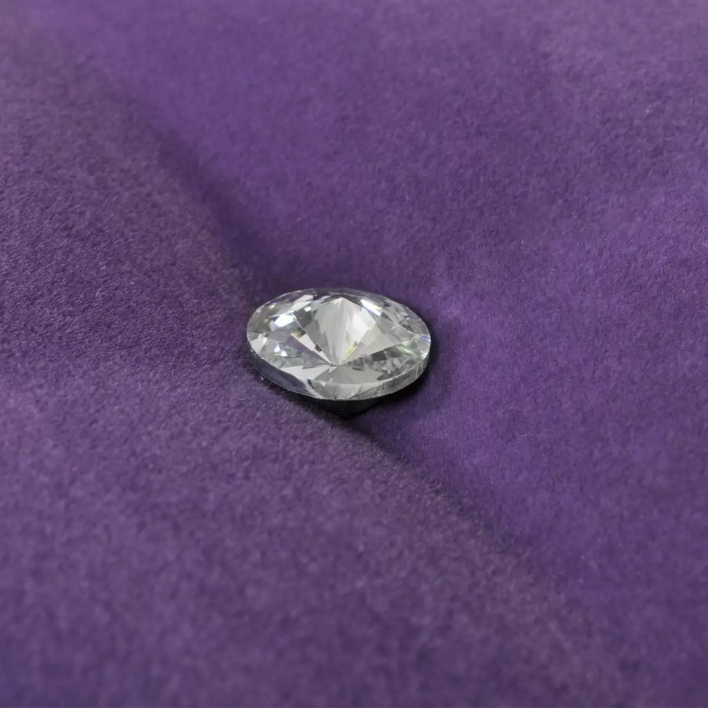 Purple Bench Velvet Fabric with Crystal Buttons 2