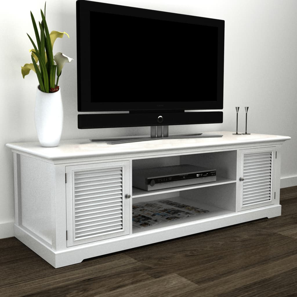 White Wooden TV Stand 1