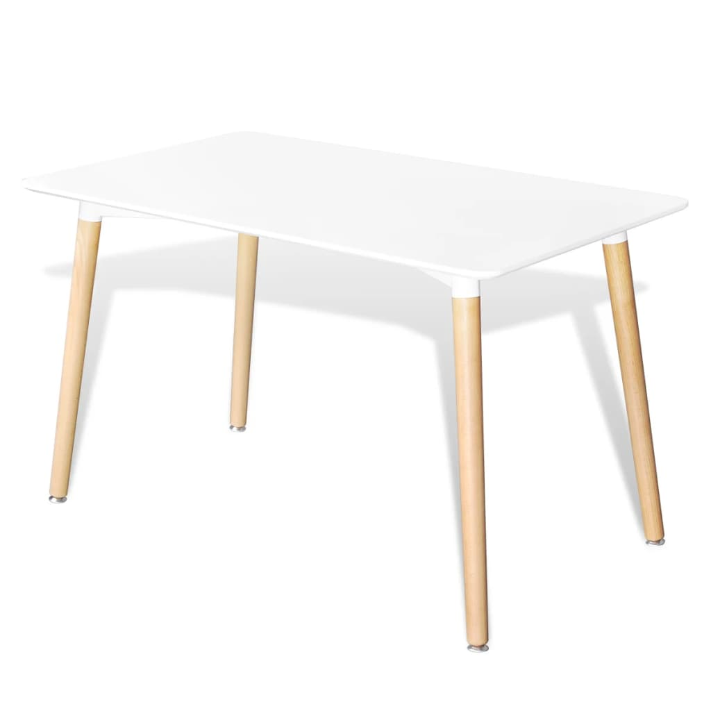 Dining Table MDF Rectangular White 1