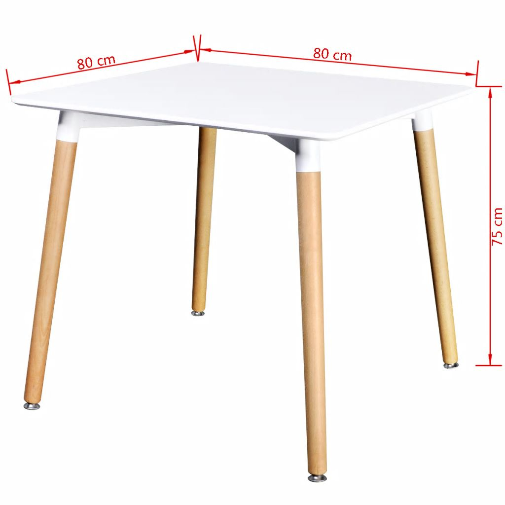 Dining Table MDF Square White 4