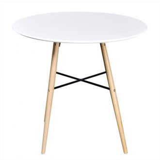 Dining Table MDF Round White 2