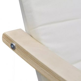 Armchair with Bentwood Frame Cream Fabric 2