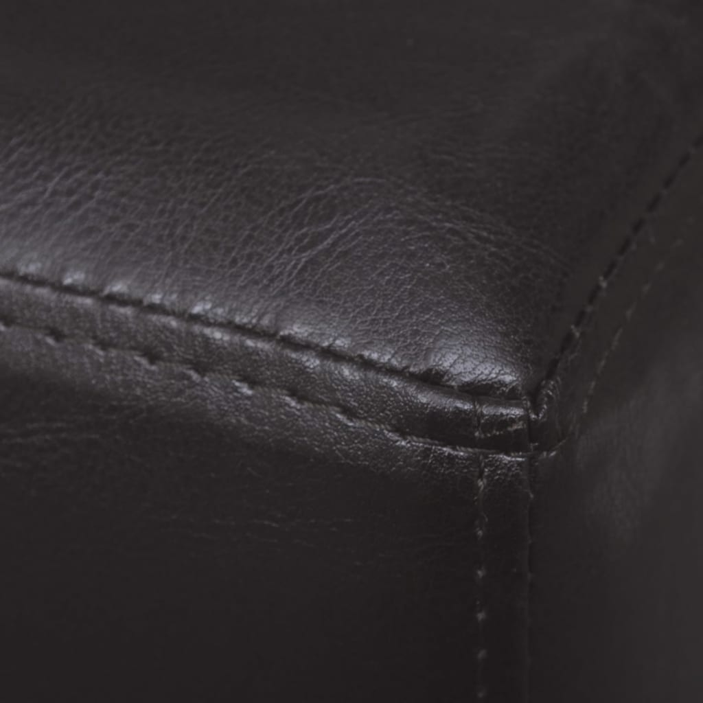 Sofa Chair Artificial Leather Bench Dark Brown 2