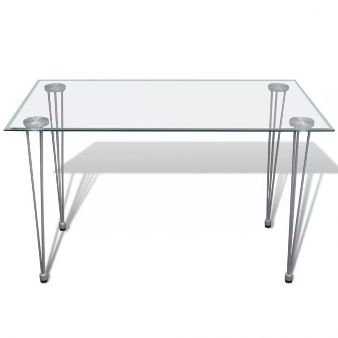 Dining Table with Glass Top Transparent 2