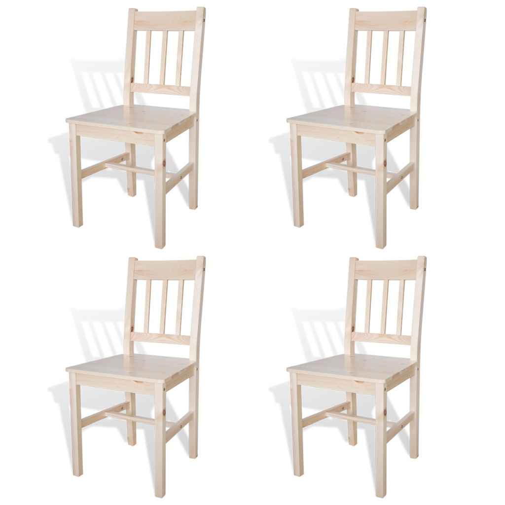 Dining Chairs 4 pcs Pinewood 1
