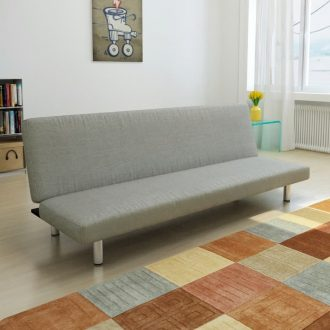 Sofa Bed Grey Polyester 1