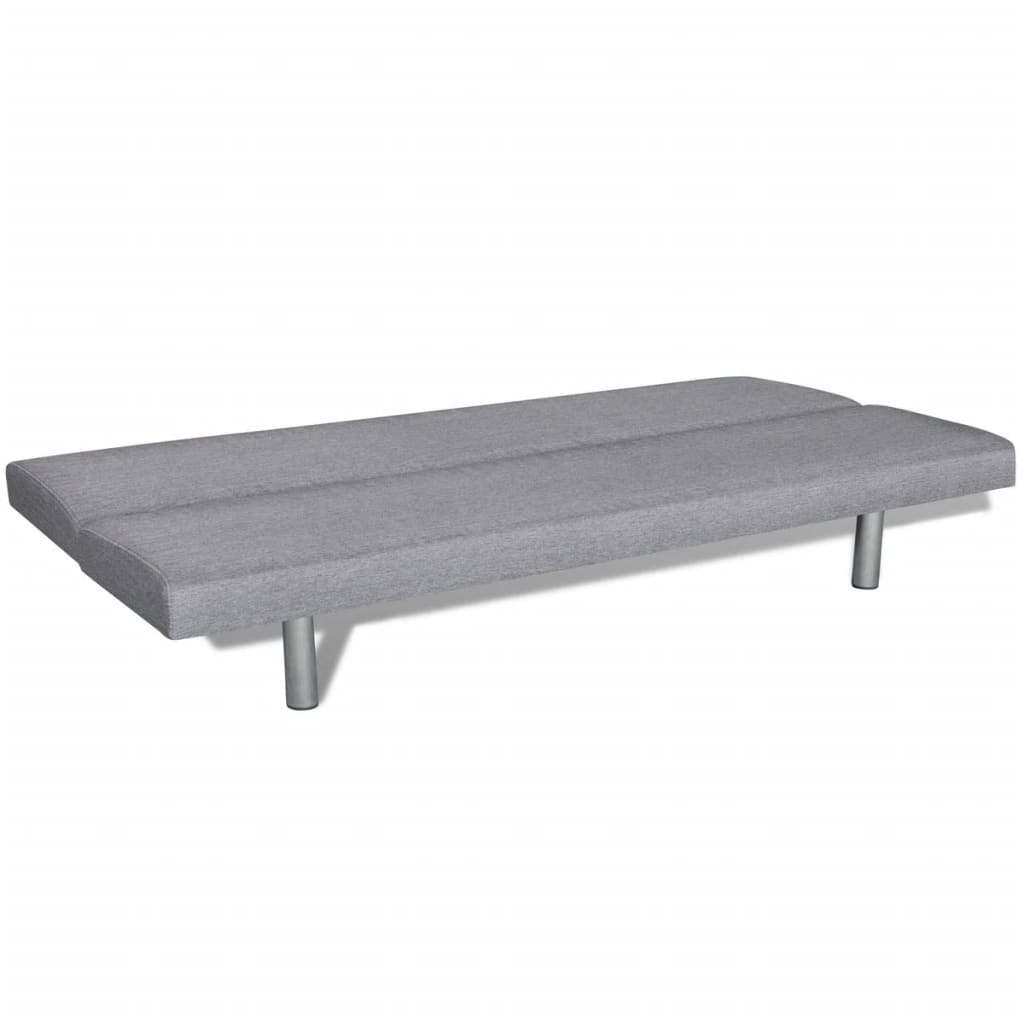 Sofa Bed Light Grey Polyester 3