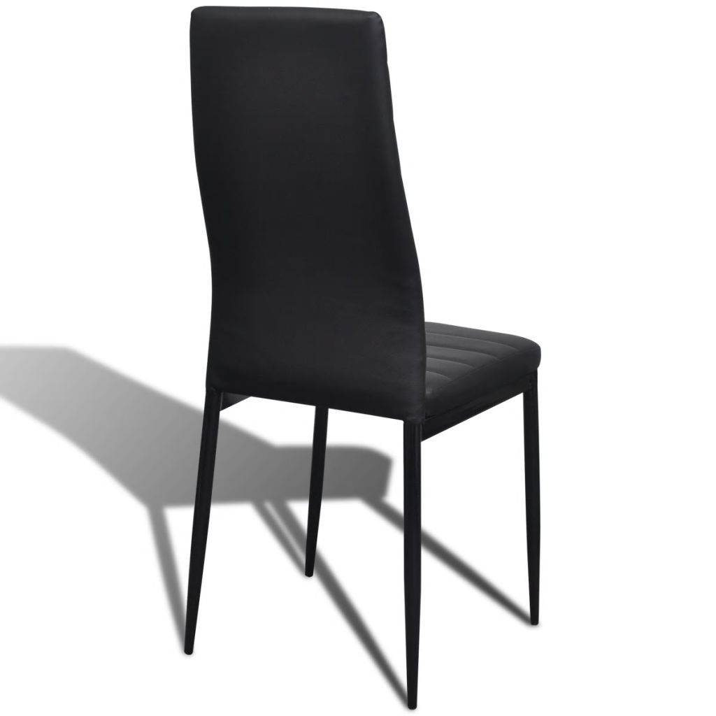 Dining Chairs 6 pcs Black Faux Leather 6