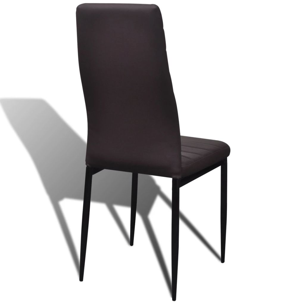 Dining Chairs 6 pcs Brown Faux Leather 6