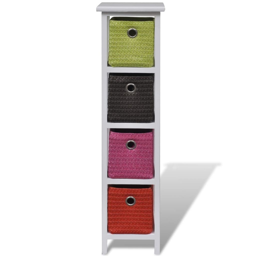 Storage Rack with Multi-colour Baskets Wood 2