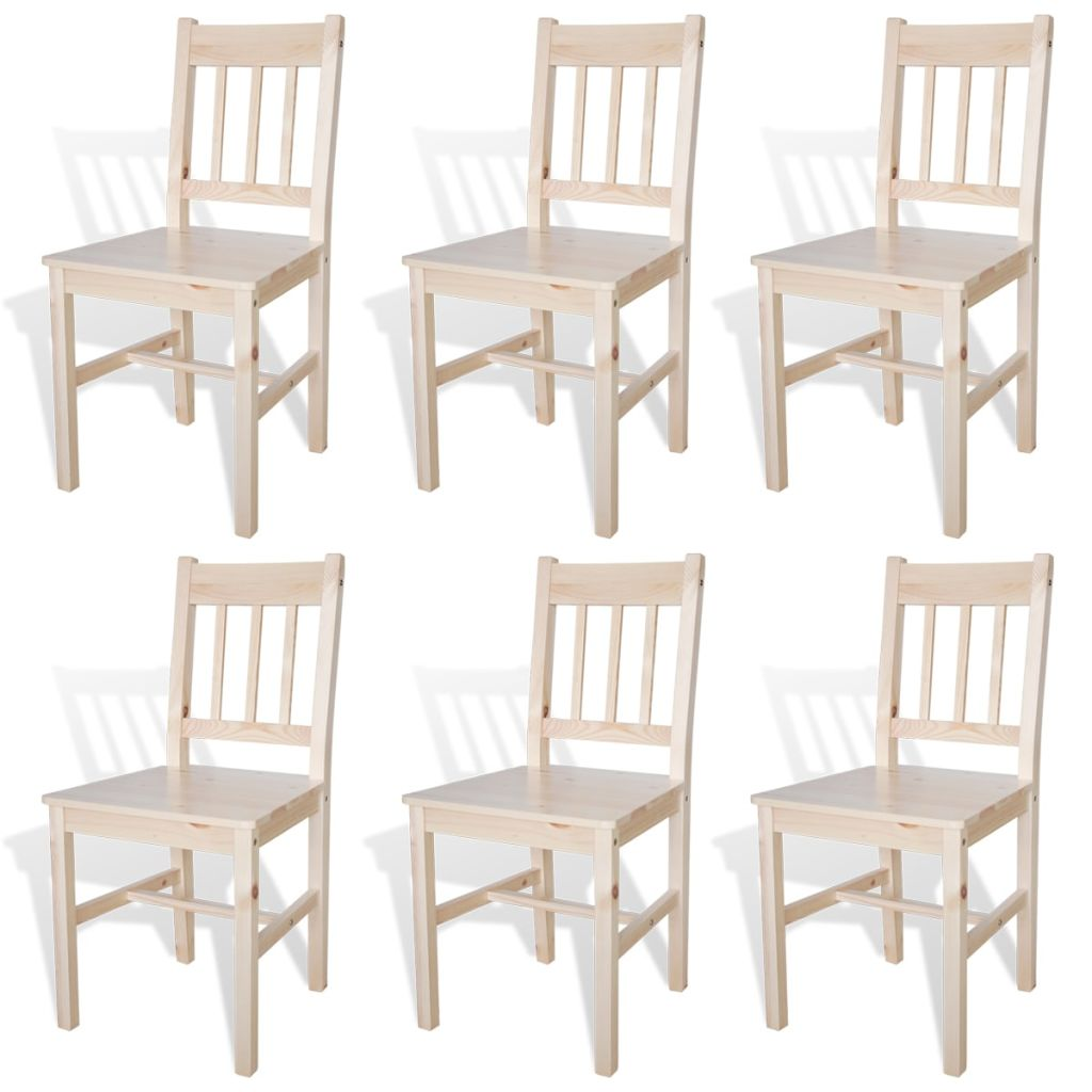 Dining Chairs 6 pcs Pinewood 1
