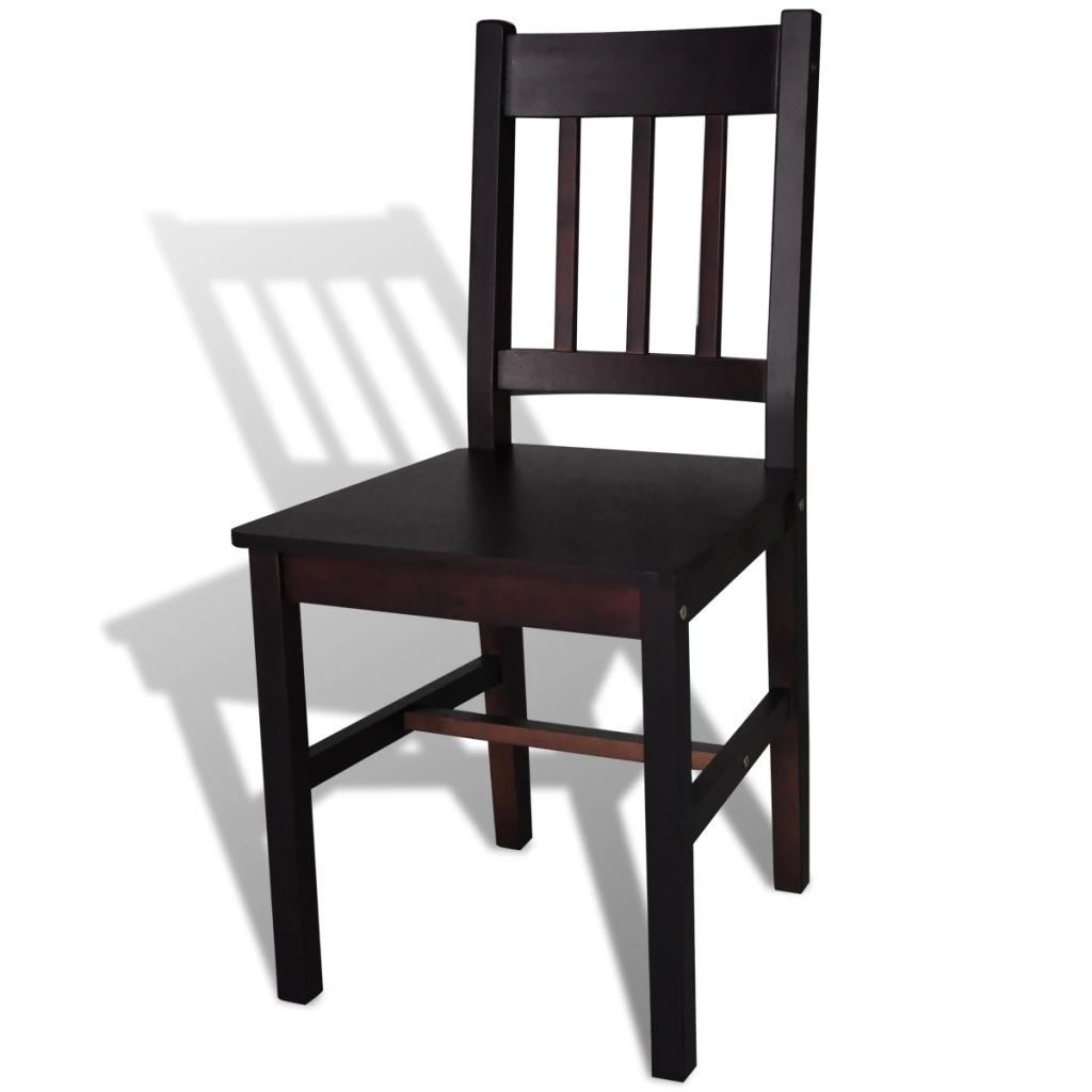 Dining Chairs 6 pcs Brown Pinewood 4