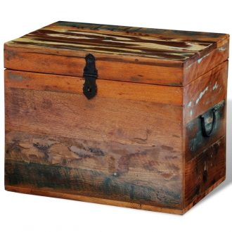 Reclaimed Storage Box Solid Wood 1