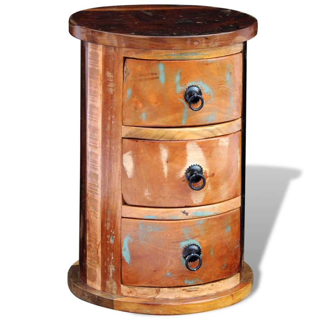 Reclaimed Cabinet with 3 Drawers Solid Wood 11