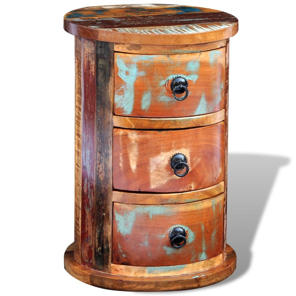 Reclaimed Cabinet with 3 Drawers Solid Wood 4
