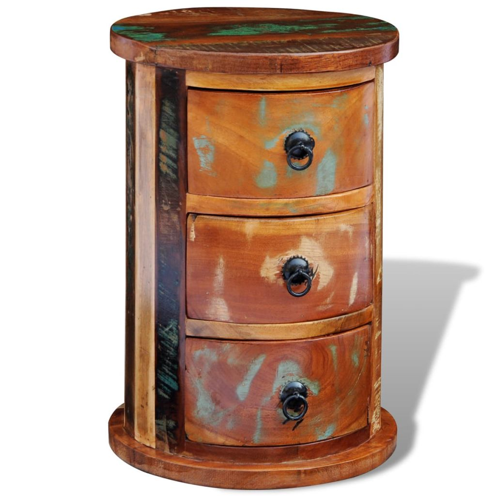 Reclaimed Cabinet with 3 Drawers Solid Wood 5